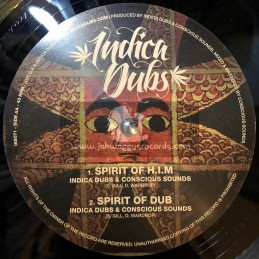 "Indica Dubs-10""-Jah Love Is True / Danman + Spirit Of H​.​I​.​M / Indica Dubs Meets Conscious Sounds"