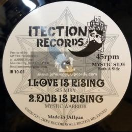 "Itection Records-10""-Love Is Rising / Sis Mikey + Amateras / Shanti K Meets Kaz Oryo"