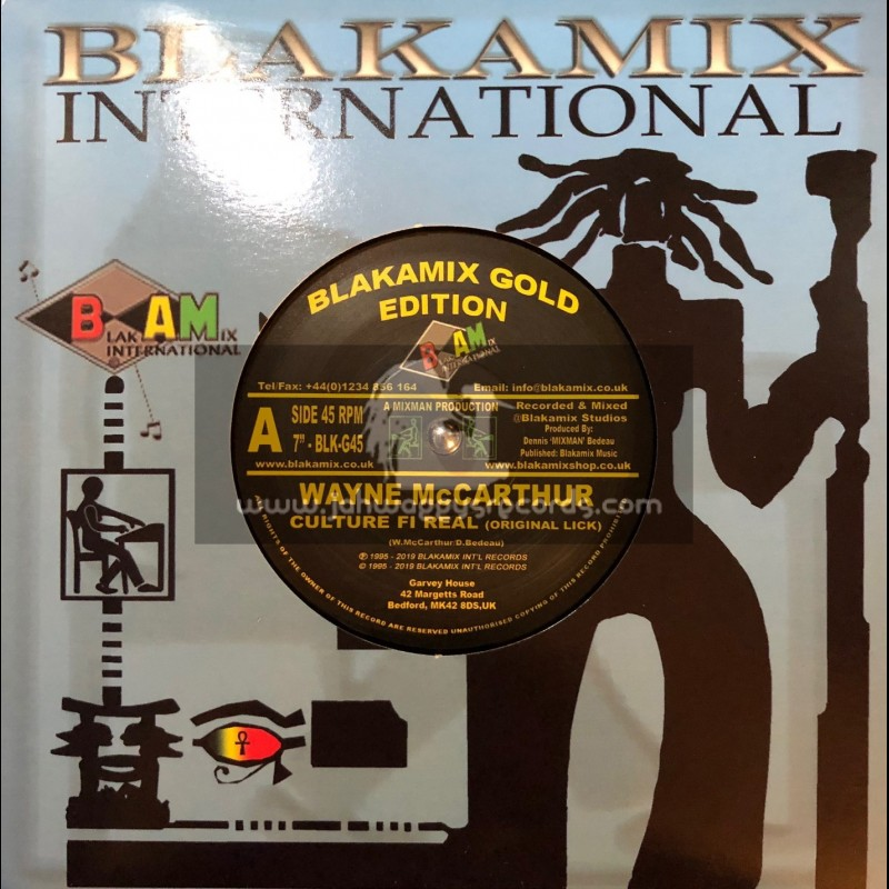 """Blakamix-7""""-Culture Fi Real / Wayne McCarthur"""