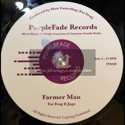 "Purple Fade Records-7""-Farmer Man / Fat Frog Ft. Jago + Melodica Man / Fat Frog Ft. Addis Pablo"