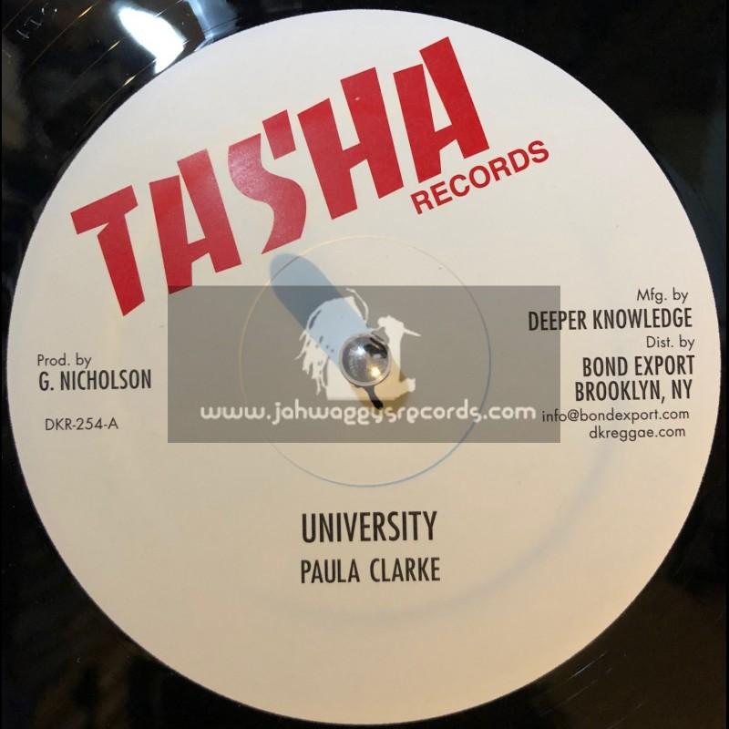 "Tasha Records-12""-University / Paula Clarke + Mr Officer / Frankie Jones"