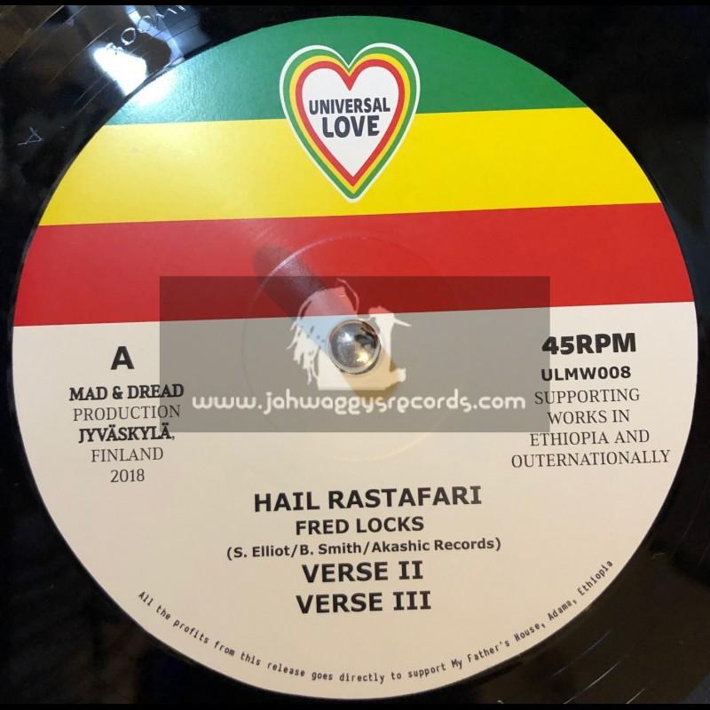 """Universal Love-12""""-Hail Rastafari / Fred Locks"""