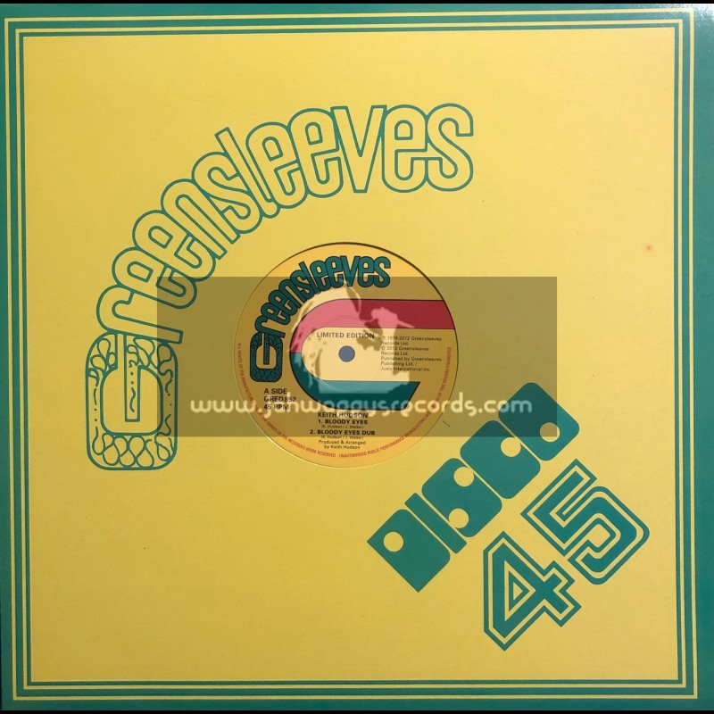 """Greensleeves-12""""-Bloody Eyes / Keith Hudson (Limited Edition)"""