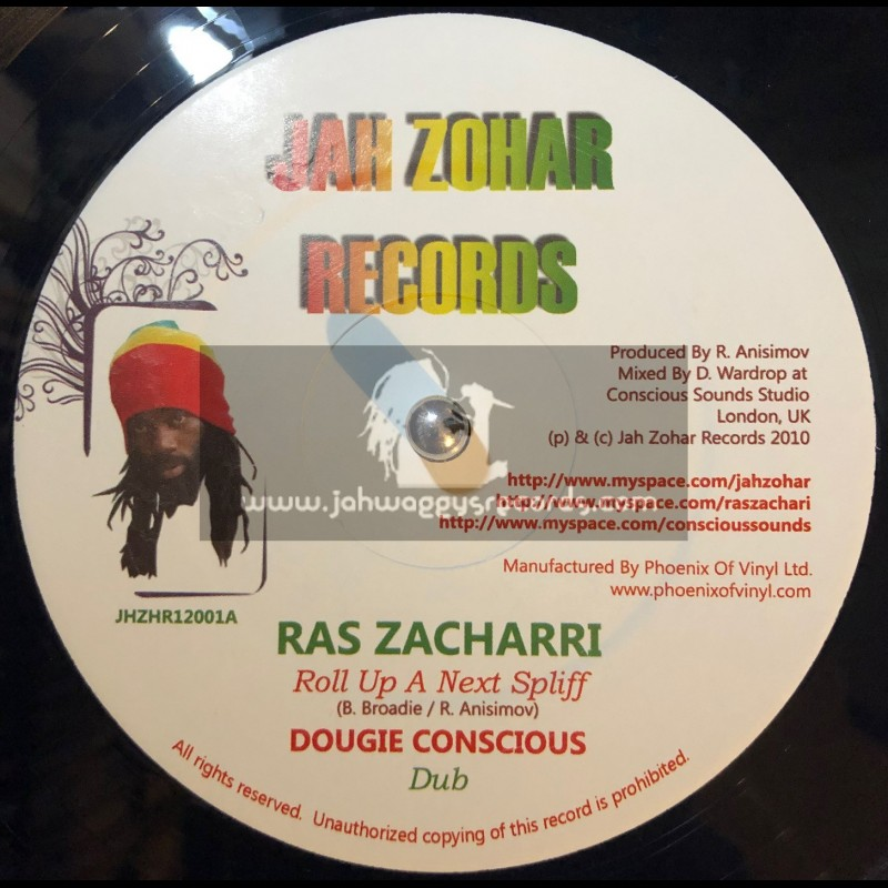 "JAH ZOHAR RECORDS-12""-ROLL UP A NEXT SPLIFF / RAS ZACHARRI + MARCHING HOME / JAH ZOHAR (DOUGIE CONCIOUS)"