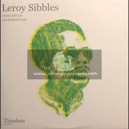 """TIMELESS RECORDS-12""""-NEVER GIVE UP / LEROY STIBBLES"""