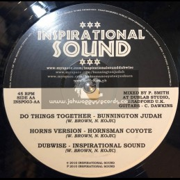 "Inspirational Sound-12""-No One Wiser / Bunnington Judah + Do Things Together / Bunnington Judah"