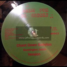 "RIDDIM PON DI CORNER-10""-CHANT DOWN BABYLON / BUNNINGTON JUDAH + RUB-A-DUB"