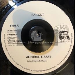 """Ras Heart-7""""-Bailout / Admiral Tibbet + Bun Dem Up / Righteous"""