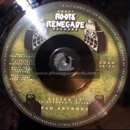 """Roots Renegade Records-7""""-Live It / Pad Anthony"""