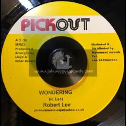 """Pick Out -7""""-Wondering / Robert Lee"""