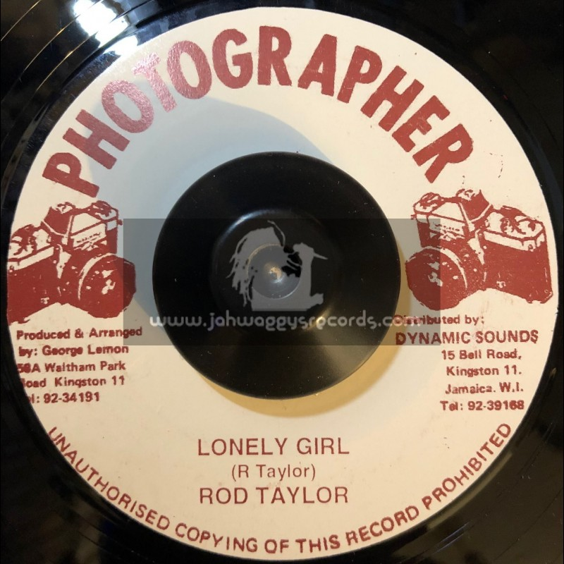 """Photographer-7""""-Lonely Girl / Rod Taylor"""
