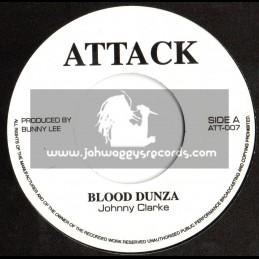 "Attack-7""-Blood Dunza / Johnny Clarke"