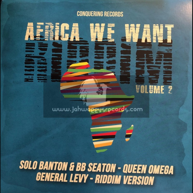 """Conquering Records-12""""-Africa We Want Riddim Volume 2 / Various"""