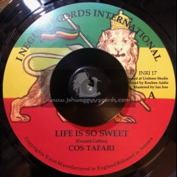 "I Negus Records Inc-7""-Life Is So Sweet / Cos Tafari"