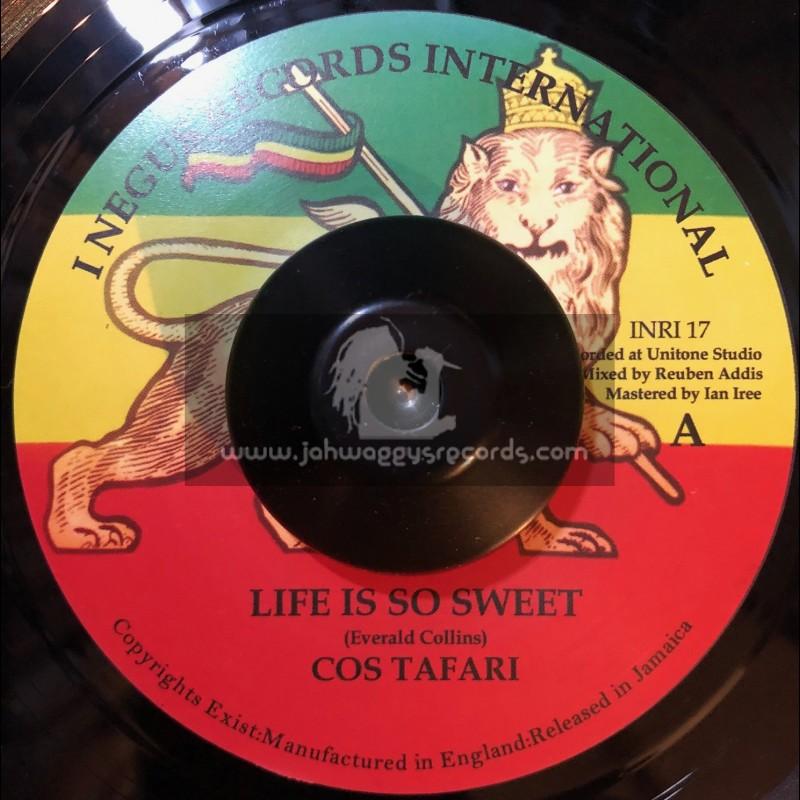 "I Negus Records Inc-7""-Life Is So Sweet / Cos Tafari"