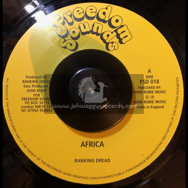 "Freedom Sounds-7""-Africa / Ranking Dread (Dubplate Mix)"