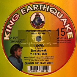 "King Earthquake-12""-Expel / Errol Arawak + Mexican / Errol Arawak"