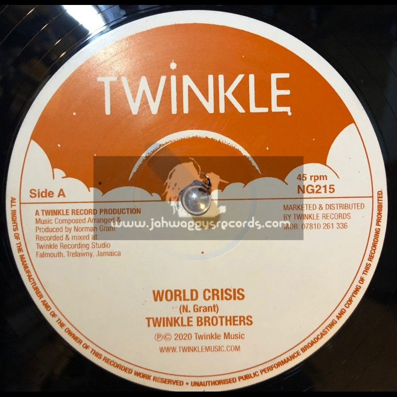 """Twinkle Records-12""""-World Crisis / Twinkle Brothers + Declaration Of Rights / Twinkle Brothers"""
