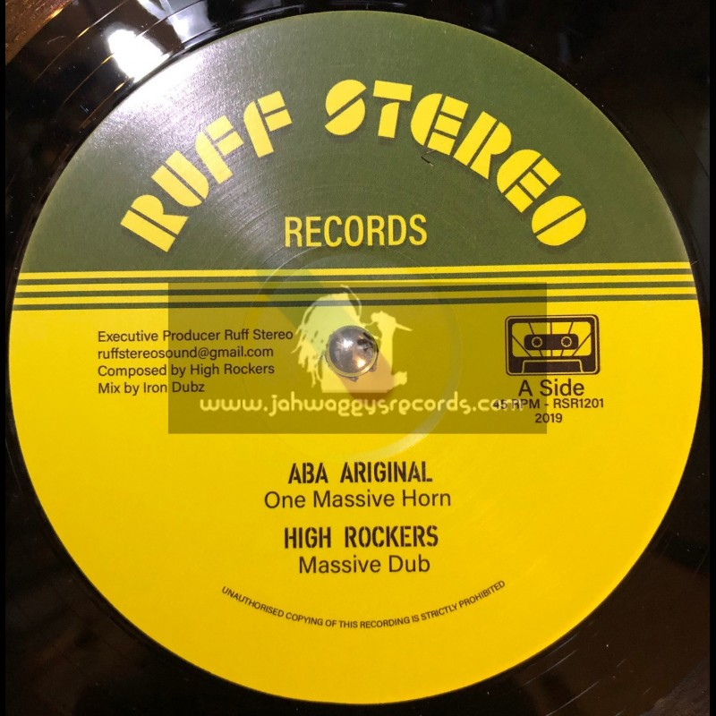 "Ruff Stereo Records-12""-One Massive Horn / Aba Ariginal + War / Derrick Parker"