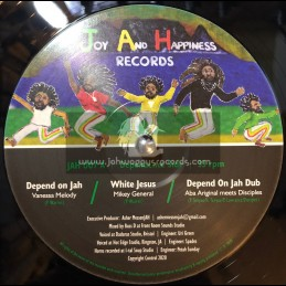"Joy And Happiness Records -12""-Depend On Jah Ep / Vanessa Melody,Mikey General,Ishabel,Danny Red, Aba-Ariginals & The Disciples"