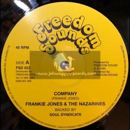 """Freedom Sounds-12""""-Company / Frankie Jones & The Nazarines + Mr Wicked Man / Phillip Frazer"""