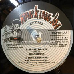 "Ranking Joe Records-12""-Slave Driver / Dennis Brown + Catch A Fire / Ranking Joe"