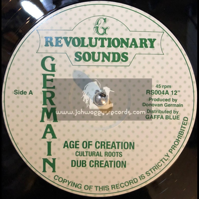 """Revolutionary Sounds-12""""-Age Of Creation / Cultural Roots"""