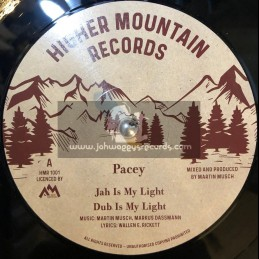 """Higher Mountain Records-10""""-Jah Is My Light / Pacey +  Movin On / Robert Dallas"""