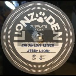 """Lionz Den Dubplate Series -10""""-Jah Jah Love Riddim / Jerry Lions"""