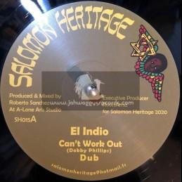 "Salomon Heritage-12""-Can't Work It Out / El Indio + Love Inna Zion / I Jah Salomon"