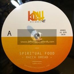 "Kopah Records-12""-Spiritual Food / Macca Dread - Limited Polyvinyl Dubplate"