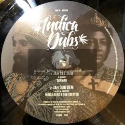 """Indica Dubs-10""""-Jah See Dem / Dan Man + Dub Attack / Indica Dubs Meets Dub Creator"""