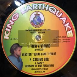 """King Earthquake-10""""-Firm & Strong / Winston Fergus + African Bredren /  Winston Fergus"""