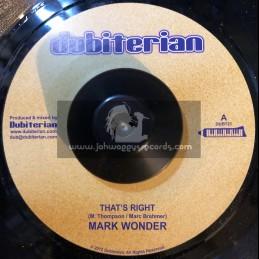"Dubiterian-7""-Thats Right / Mark Wonder"
