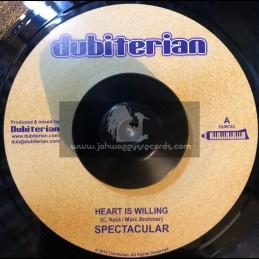 "Dubiterian-7""-Heart Is Willing / Spectacular + Trodding / Ras Macbean"