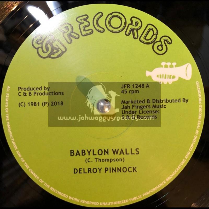"S & G Records-Jah Fingers-12""-Babylon Walls / Delroy Pinnock + I Want To Be / Delroy Pinnock, Dickey Dread, Mikey Ranks"