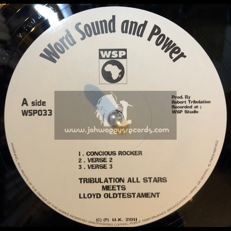 """Word Sound & Power-12""""-Concious rocker/Lloyd Testament + No Bad Mind/Color Red"""