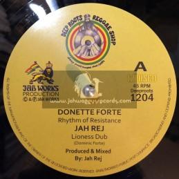 """Deep Roots Reggae Shop-12""""-Rhythm Of Resistance / Donette Forte - Jah Works"""