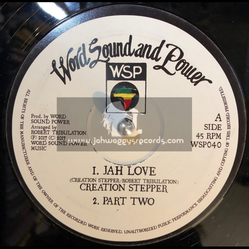 """Word Sound And Power-12""""-Jah Love / Creation Stepper + This Man / Creation Stepper"""