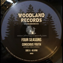 """Woodland Records-7""""-Four Seasons / Conscious Youth"""