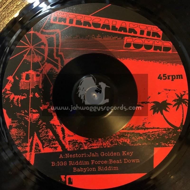"""Intergalaktik Sound Records-7""""-Jah Golden Key / Nestori"""