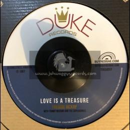 "Duke Records-7""-Love Is A Treasure / Freddie McKay + Love Is A Treasure / Lizzy"