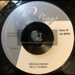 """Peckings-7""""-Reggae Music / Delly Ranks + Hustler Story / Dolomite"""