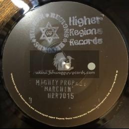 "Higher Regions Records-7""-Marchin / Mighty Prophet"