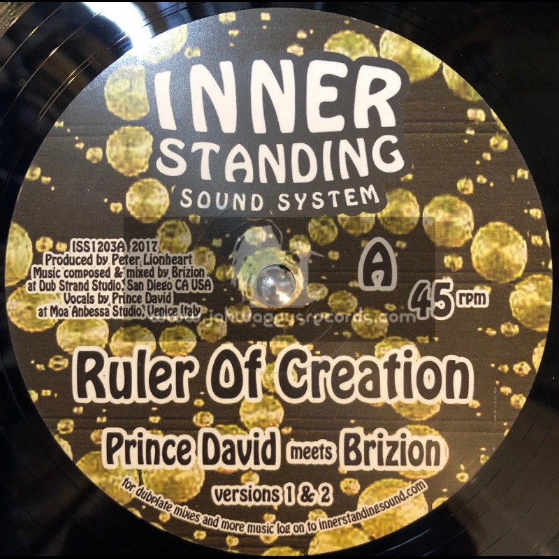 """Inner Standing Sound System-12""""-Ruler Of Creation / Prince David Meets Brizion + Deyah With Jah Luv Fyah Meets Brizion"""
