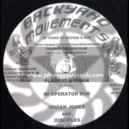 "Backyard Movements-10""-Flash It And Gwan / Vivian Jones (Disciples)"
