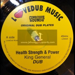"KING GENERAL-10""-HEALTH STRENGTH & POWER + MILITANT STYLE/EAST MEETS WEST"