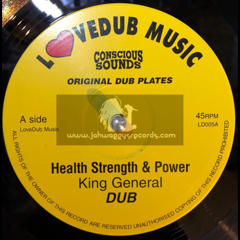 """KING GENERAL-10""""-HEALTH STRENGTH & POWER + MILITANT STYLE/EAST MEETS WEST"""
