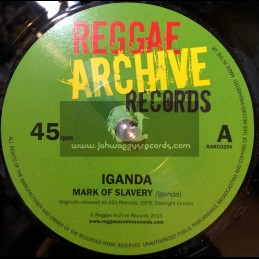 "Reggae Archive Records-7""-Mark Of Slavery / Iganda + Slow Down / Iganda"