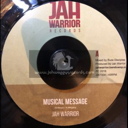 "Jah Warrior Records-7""-Musical Message / Jah Warrior"